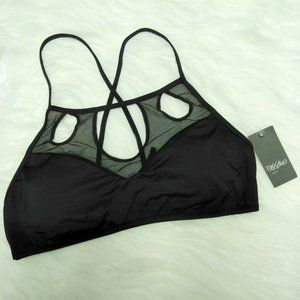 Mossimo Mesh Cut Out Bralette Bikini Top Swimwear